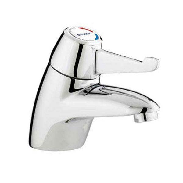 Bristan - DocM Close Coupled WC Pack with TMV3 Thermostatic Basin Mixer Tap - White Aluminium - DOCM-T3-W profile large image view 2
