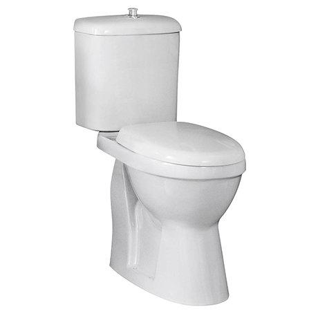 Nuie Single Flush High Rise Close Coupled Toilet - DOCMP100