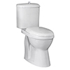 Nuie Single Flush High Rise Close Coupled Toilet - DOCMP100 profile small image view 1