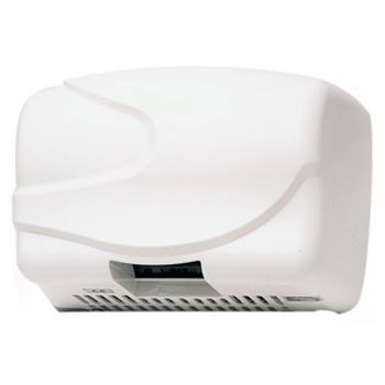 Dolphin - Wide Body Hot Air Hand Dryer - White - BC2200W Large Image