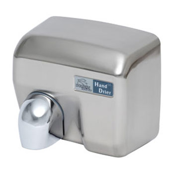 Dolphin - Surface Mounted Automatic Hot Air Hand Dryer - Chrome - BC2400MA Large Image