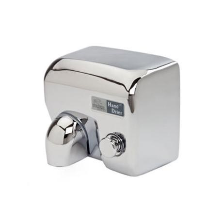 Dolphin - Surface Mounted Push Button Hot Air Hand Dryer - Chrome - BC2400MS