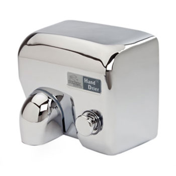 Dolphin - Surface Mounted Push Button Hot Air Hand Dryer - Chrome - BC2400MS Large Image