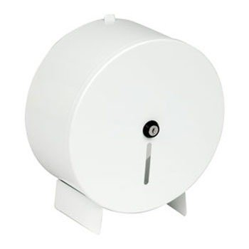 Dolphin - White Metal Jumbo Dispenser - BC338WM Large Image