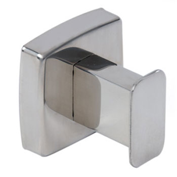 Dolphin - Washroom Squared Stainless Steel Robe Hook - BC401 Large Image