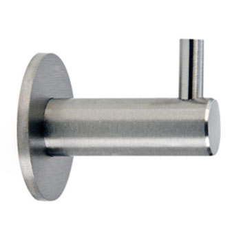 Dolphin - Washroom Round Stainless Steel Coat Hook - BC402 Large Image