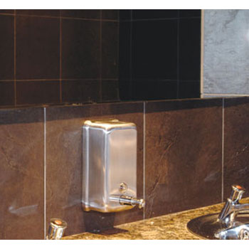 Dolphin - Stainless Steel Vertical Soap Dispenser - BC923 profile large image view 2