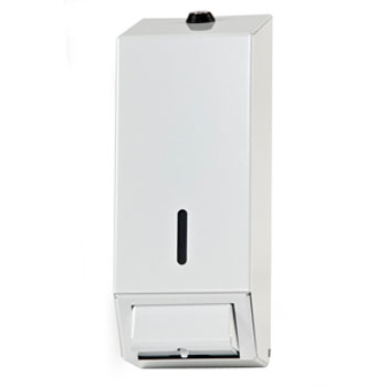 Dolphin - Surface Mounted Metal Soap Dispenser - White - BC924 Large Image