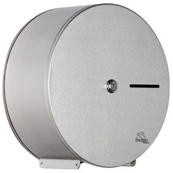 Dolphin - Satin Stainless Steel Mini Jumbo Toilet Paper Dispenser - BC925 Large Image