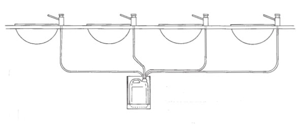 Illustration of Multi-Feed Soap Dispenser