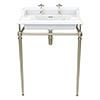 Heritage Abingdon Dorchester Basin & Washstand - Vintage Gold profile small image view 1