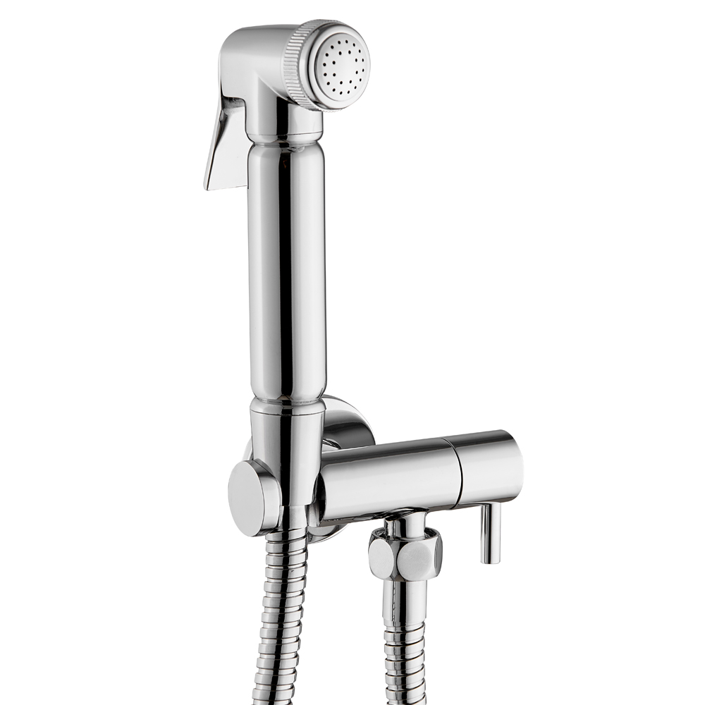 Cruze Modern Douche Shower Spray Kit with Shut Off Valve + Hose
