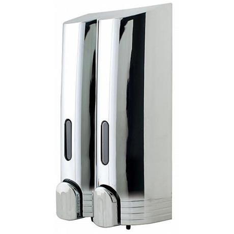 Euroshowers - Tall Double Liquid Dispenser - Chrome - 89890