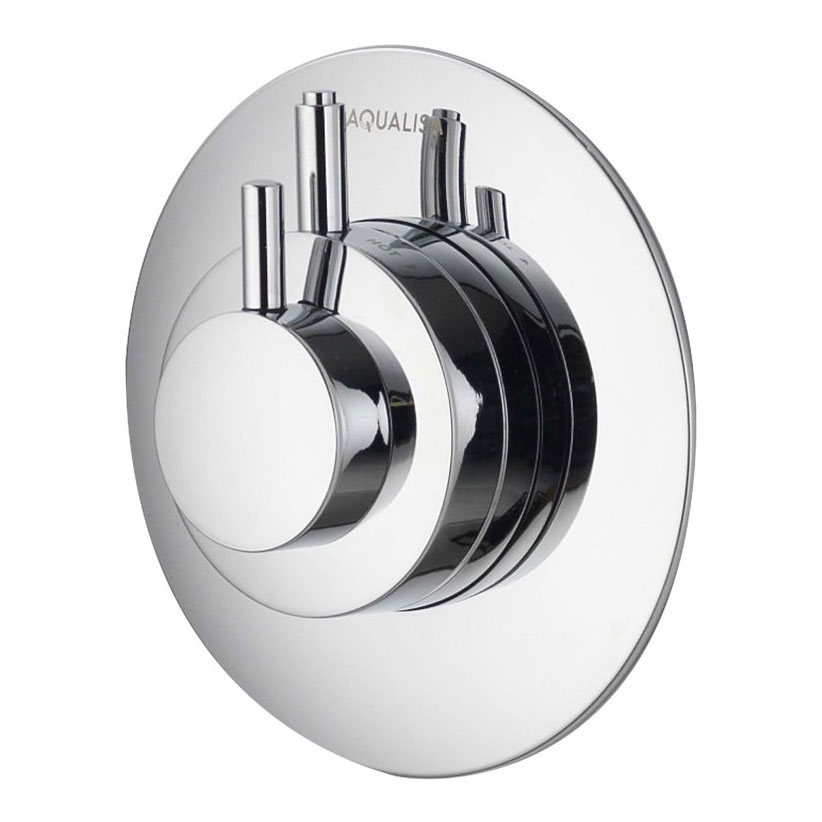 Aqualisa - Dream Concealed Thermostatic Shower Valve with Wall Mounted Fixed Head - DRM001CF Profile Large Image