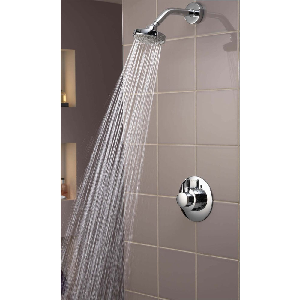 Aqualisa - Dream Concealed Thermostatic Shower Valve with Wall Mounted Fixed Head - DRM001CF Standard Large Image