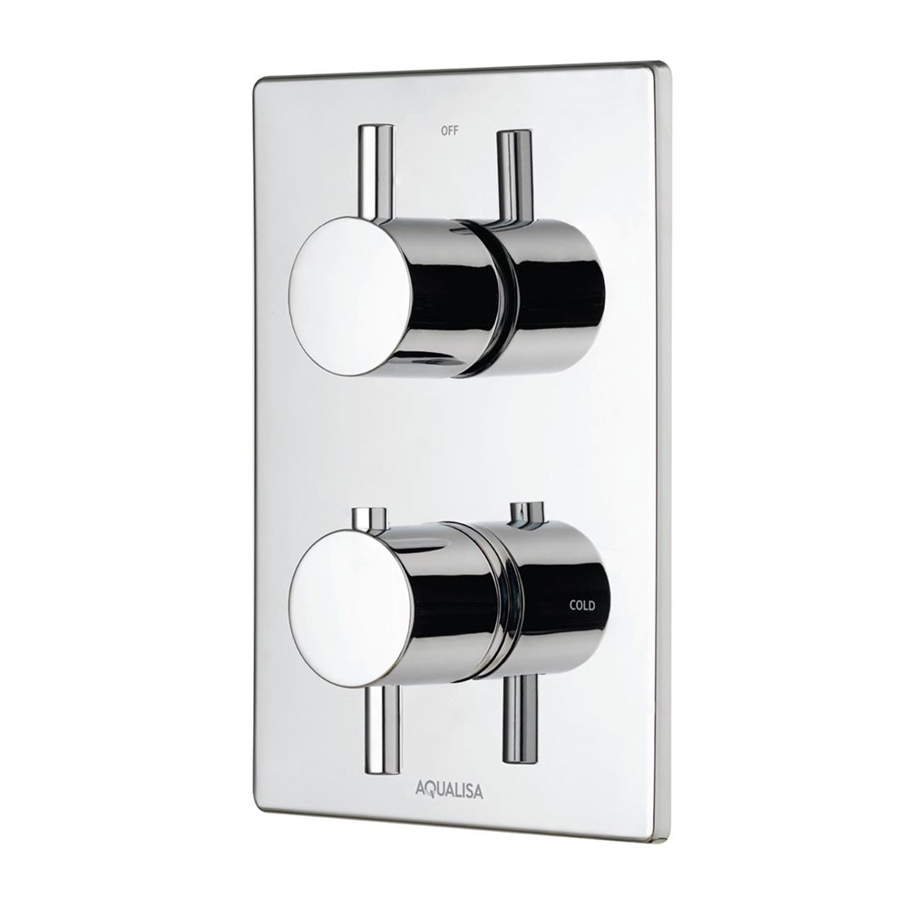 Aqualisa - Dream DCV Concealed Diverter Valve with Slide Rail Kit & Overflow Bath Filler - DRMDCV004 Standard Large Image