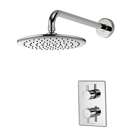 Aqualisa - Dream DCV Concealed Shower Valve with Wall Mounted Fixed Head - DRMDCV002