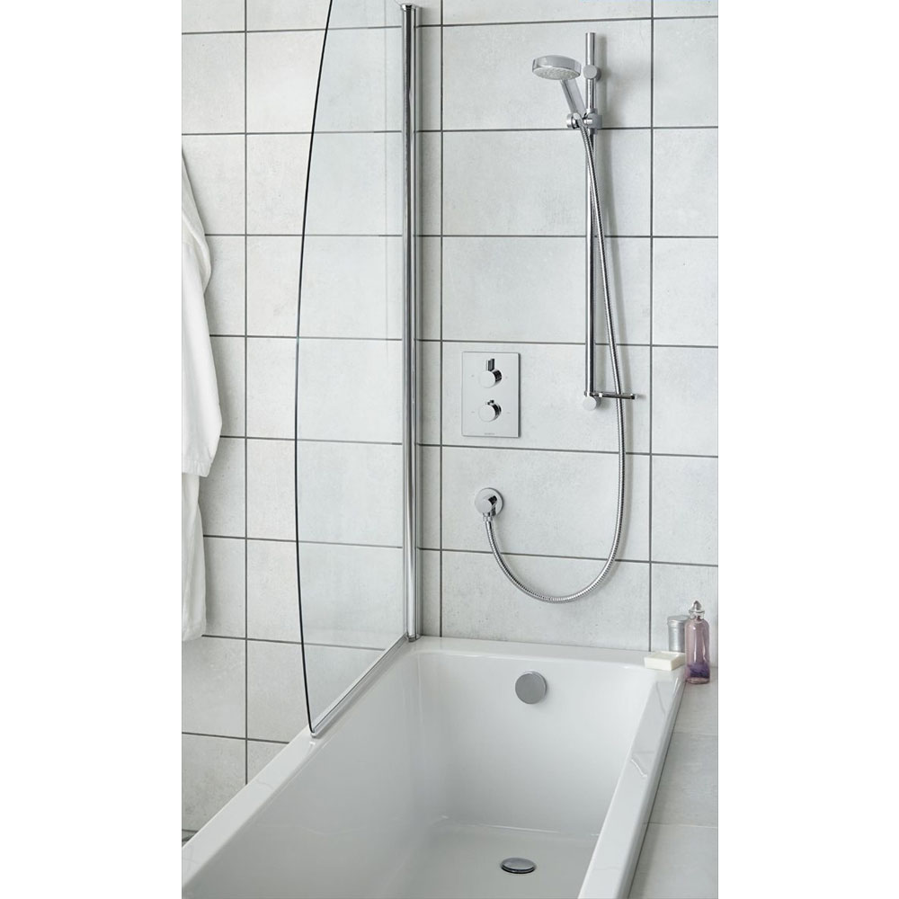Aqualisa - Dream DCV Concealed Diverter Valve with Slide Rail Kit & Overflow Bath Filler - DRMDCV004 Feature Large Image