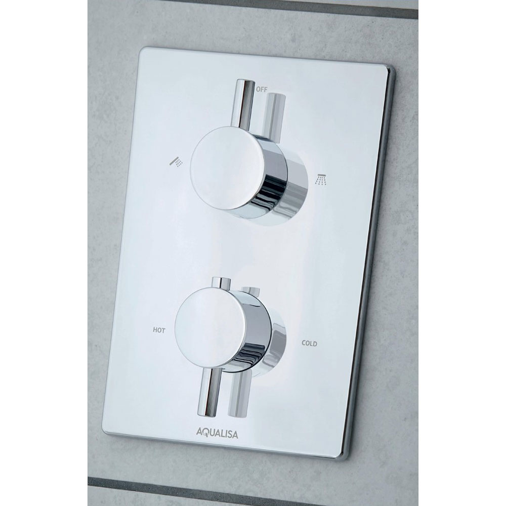 Aqualisa - Dream DCV Concealed Diverter Valve with Slide Rail Kit & Overflow Bath Filler - DRMDCV004 additional Large Image