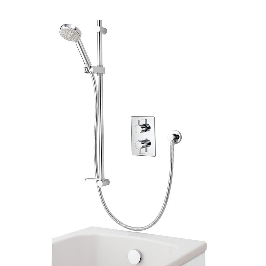 Aqualisa - Dream DCV Concealed Diverter Valve with Slide Rail Kit & Overflow Bath Filler - DRMDCV004 Large Image