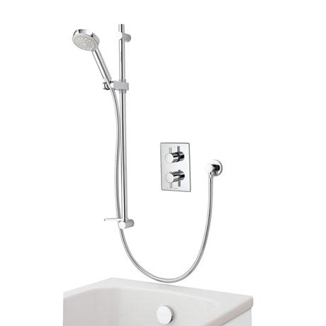Aqualisa - Dream DCV Concealed Diverter Valve with Slide Rail Kit & Overflow Bath Filler - DRMDCV004