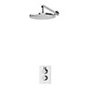 Aqualisa Dream Round Thermostatic Mixer Shower with Wall Fixed Head - DRMDCV1.FW.RND profile small image view 1