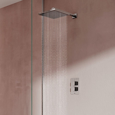 Aqualisa Dream Square Thermostatic Mixer Shower with Wall Fixed Head - DRMDCV1.FW.SQR