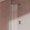 Aqualisa Dream Square Thermostatic Mixer Shower with Wall Fixed Head - DRMDCV1.FW.SQR profile small image view 1