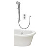 Aqualisa Dream Round Thermostatic Mixer Shower with Adjustable Head and Bath Fill - DRMDCV2.ADBTX.RND profile small image view 1