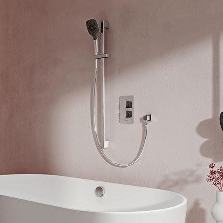 Aqualisa Dream Square Thermostatic Mixer Shower with Adjustable Head and Bath Fill - DRMDCV2.ADBTX.S