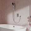 Aqualisa Dream Square Thermostatic Mixer Shower with Adjustable Head and Bath Fill - DRMDCV2.ADBTX.SQR profile small image view 1