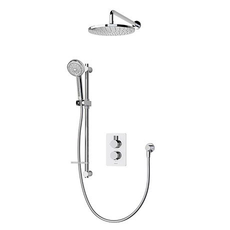 Aqualisa Dream Round Thermostatic Mixer Shower with Adjustable and Wall Fixed Heads - DRMDCV2.ADFW.R