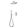 Aqualisa Dream Round Thermostatic Mixer Shower with Hand Shower and Wall Fixed Head - DRMDCV2.HSFW.RND profile small image view 1