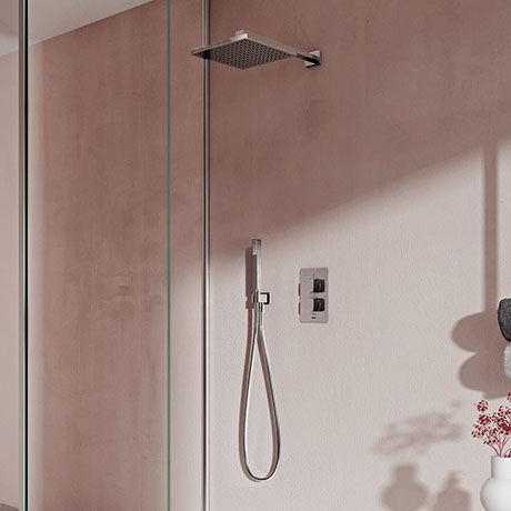 Aqualisa Dream Square Thermostatic Mixer Shower with Hand Shower and Wall Fixed Head - DRMDCV2.HSFW.