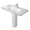 Duravit DuraStyle 1000mm 1TH Basin + Full Pedestal profile small image view 1