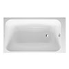 Duravit DuraStyle 1400 x 800mm Single Ended Bath + Support Feet profile small image view 1