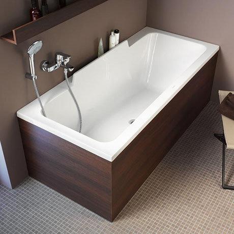 Duravit DuraStyle 1700 x 750mm Rectangular Bath with Backrest Slope Right + Support Feet