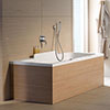 Duravit DuraStyle 1800 x 800mm Double Ended Bath + Support Feet profile small image view 1