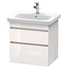 Duravit DuraStyle 650mm 2-Drawer Wall Mounted Vanity Unit - White High Gloss profile small image view 1