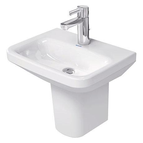 Duravit DuraStyle 450mm 1TH Handrinse Basin + Semi Pedestal