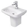 Duravit DuraStyle 450mm 1TH Handrinse Basin + Semi Pedestal profile small image view 1