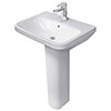 Duravit DuraStyle 1TH Basin + Full Pedestal profile small image view 1