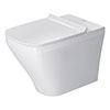 Duravit DuraStyle HygieneGlaze Back to Wall Toilet + Seat profile small image view 1