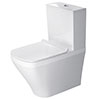 Duravit DuraStyle Short Projection Close Coupled Toilet + Seat profile small image view 1