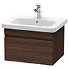 Duravit DuraStyle 650mm 1-Drawer Wall Mounted Vanity Unit - Chestnut Dark profile small image view 1