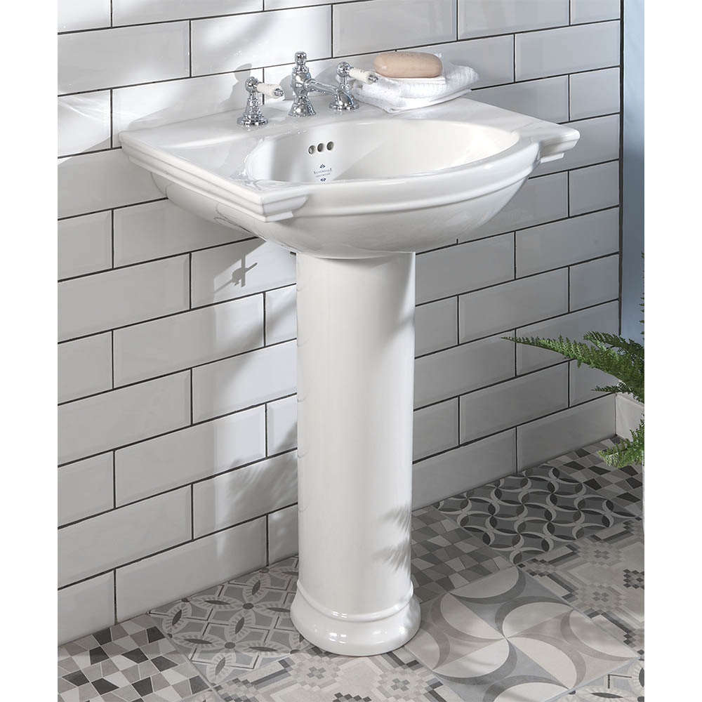 Silverdale Damea 650mm Wide Basin with Full Pedestal