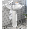 Silverdale Damea 650mm Wide Basin with Full Pedestal profile small image view 1
