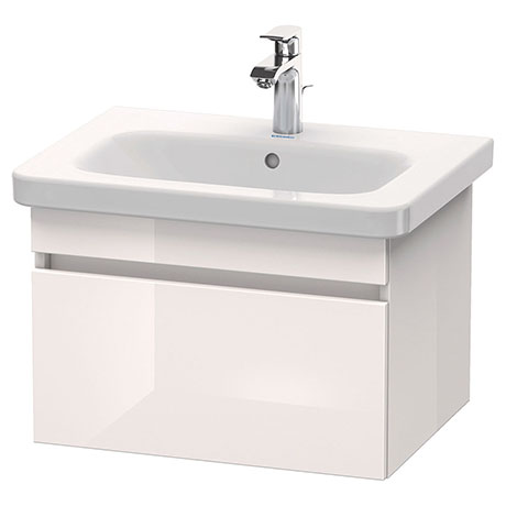 Duravit DuraStyle 650mm 1-Drawer Wall Mounted Vanity Unit - White High Gloss