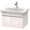 Duravit DuraStyle 650mm 1-Drawer Wall Mounted Vanity Unit - White High Gloss profile small image view 1
