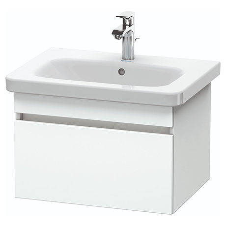 Duravit DuraStyle 650mm 1-Drawer Wall Mounted Vanity Unit - White Matt